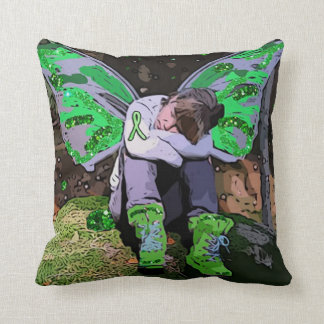 Rest, Warrior Rest Lyme Disease Awareness Pillow