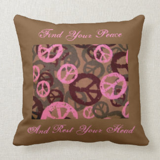 Rest Your Head Peace Signs Pillow