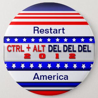 Restart America 6 Inch Round Button