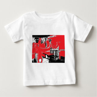 Restaurant Booth in Red Baby T-Shirt