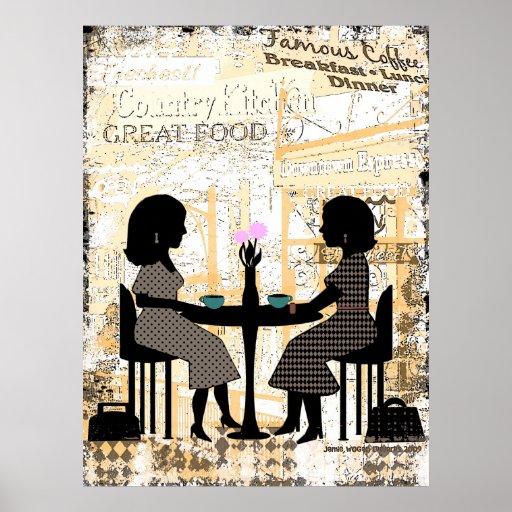 Restaurant Cafe Friendship Poster
