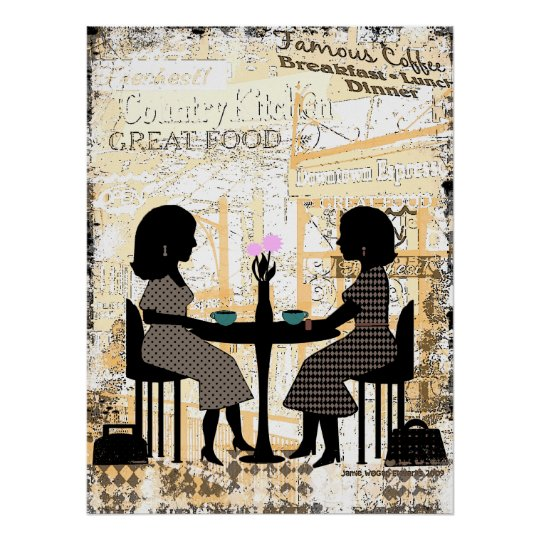 Restaurant Cafe Friendship Poster