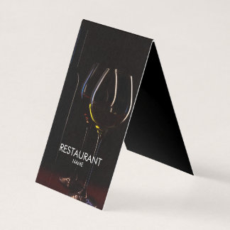 Restaurant cafe wine glasses classy business card