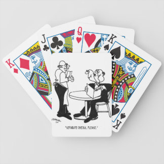 Restaurant Cartoon 4334 Bicycle Playing Cards