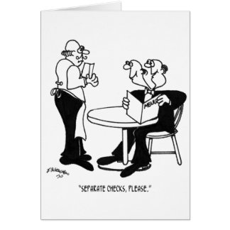 Restaurant Cartoon 4334 Card