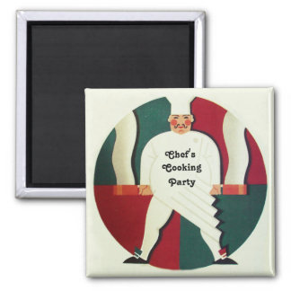 RESTAURANT CHEF'S COOKING PARTY Culinary Square Magnet