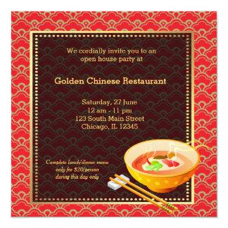 Restaurant de Chinois d'ouverture officielle Bristol Personnalisé