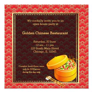 Restaurant de Chinois d'ouverture officielle Invitations