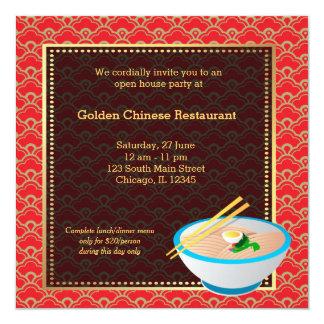 Restaurant de Chinois d'ouverture officielle Cartons D'invitation