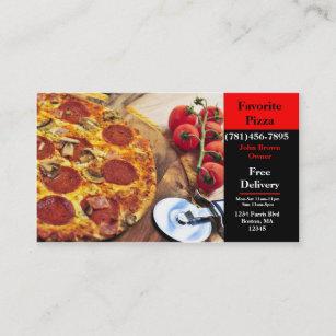 Restaurant De Pizza Carte Visite