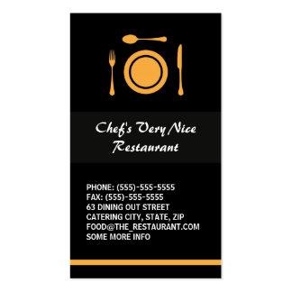 Restaurant élégant moderne ou restauration carte de visite standard