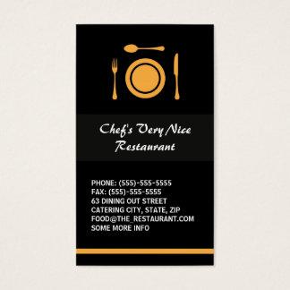 Restaurant élégant moderne ou restauration cartes de visite