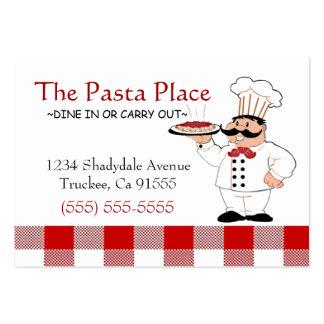Restaurant italien carte de visite grand format