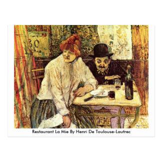 Restaurant La Mie By Henri De Toulouse-Lautrec Postcard