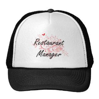 Restaurant Manager Artistic Job Design with Butter Trucker Hat