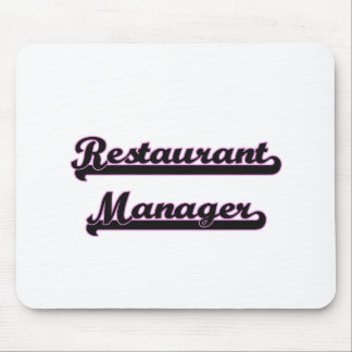 Restaurant Manager Classic Job Design Mouse Pad