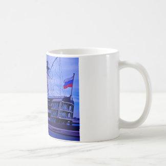 Restaurant on to boat. coffee mug