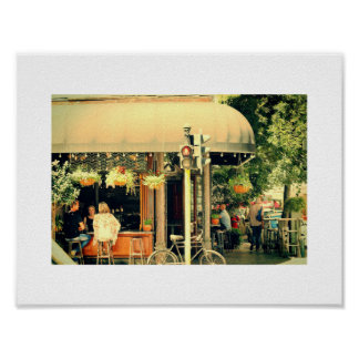 Restaurant Street City Life Cape Town Poster
