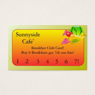 Restaurant Supplies   Breakfast club cards