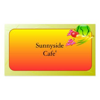 Restaurant Supplies, Business Cards, Sunnyside Business Card