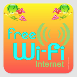 """Restaurant Supplies""  Free Wi Fi Stickers"
