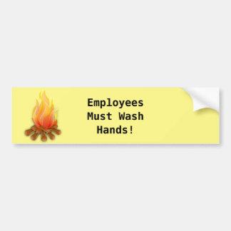 Restaurant Supplies Wash Hands Poster Bumper Sticker