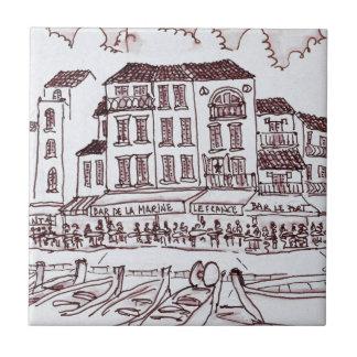 Restaurants Waterfront | Cassis, France Tile
