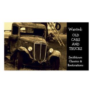 Restauration antique vintage d'automobile carte de visite standard