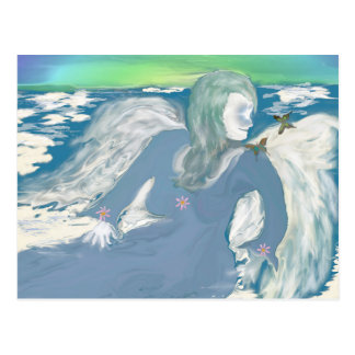 Resting Angel On A Cloud Postcard