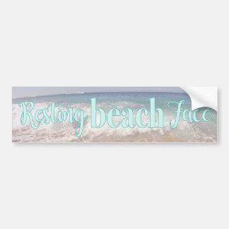 Resting Beach Face Bumper Sticker