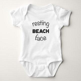 Resting Beach Face Print Baby Bodysuit