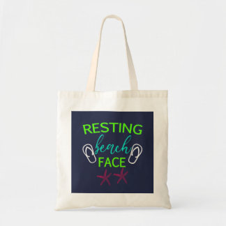 Resting Beach Face Summer Beach Fun Tote