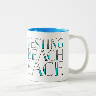Resting Beach Face Summer Two-Tone Coffee Mug