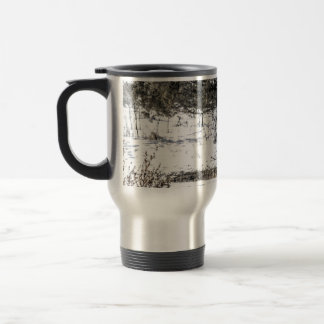 Resting Bison Travel Mug
