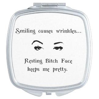 Resting Bitch Face Makeup Mirror