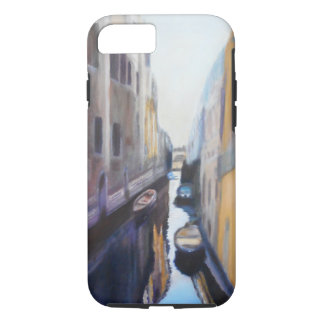 Resting Boats along Venice Canals iPhone/iPad Case