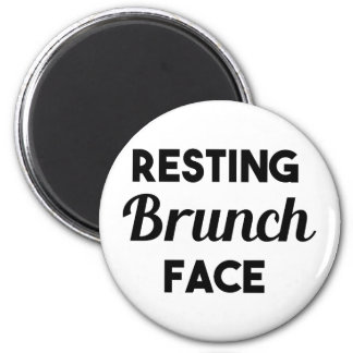 Resting Brunch Face 2 Inch Round Magnet