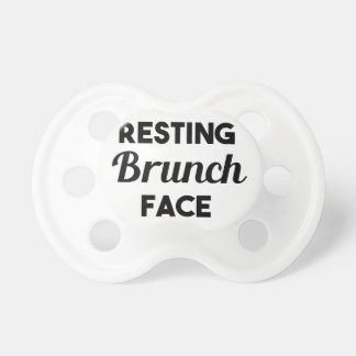 Resting Brunch Face Baby Pacifiers