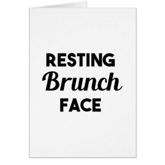 Resting Brunch Face Card