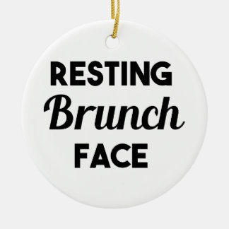 Resting Brunch Face Ceramic Ornament