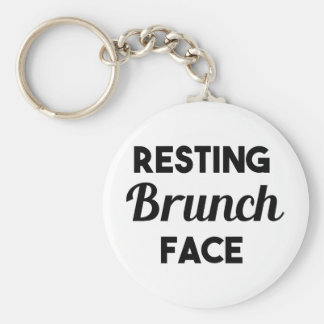 Resting Brunch Face Keychain