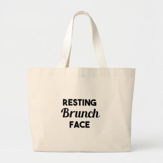 Resting Brunch Face Large Tote Bag