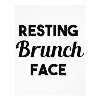 Resting Brunch Face Letterhead