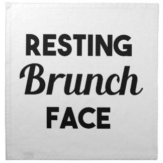Resting Brunch Face Napkin