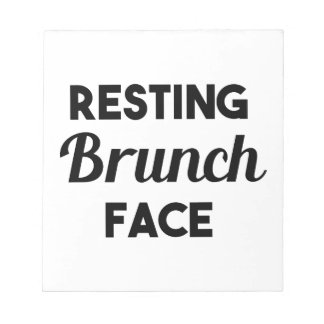 Resting Brunch Face Notepad