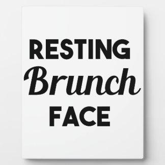 Resting Brunch Face Plaque