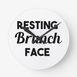Resting Brunch Face Round Clock