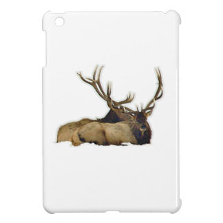 Resting bull elk iPad mini covers