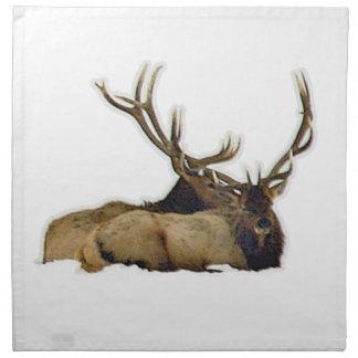 Resting bull elk napkin