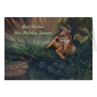 Resting Fawn Card
